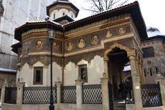 Stavropoleosklooster Manastirea Stavropoleos Stock Foto's