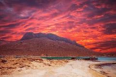 Stavros beach on Crete island, Greece. Royalty Free Stock Photography