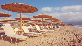 Stavros Beach in Greece Stock Images