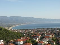 Stavros, Greece, panorama on sunny day royalty free stock photography