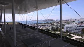 Stavros Niarchos foundation cultural center - the building of National opera Greece stock video