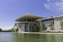 Stavros Niarchos foundation cultural center, park and Greek Nati. Onal Opera, Athens, Greece stock images