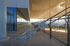 Stavros Niarchos Foundation Cultural Center SNFCC in Athens. Detail of the Stavros Niarchos Foundation Cultural Center SNFCC in Athens - Greece, designed by the stock photography
