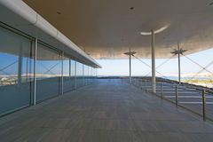 Stavros Niarchos Foundation Cultural Center SNFCC in Athens. Detail of the Stavros Niarchos Foundation Cultural Center SNFCC in Athens - Greece, designed by the royalty free stock image