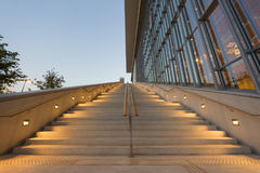 Stavros Niarchos Foundation Cultural Center SNFCC in Athens. Detail of the Stavros Niarchos Foundation Cultural Center SNFCC in Athens - Greece, designed by the Royalty Free Stock Photos