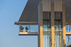 Stavros Niarchos Foundation Cultural Center SNFCC in Athens. Detail of the Stavros Niarchos Foundation Cultural Center SNFCC in Athens - Greece, designed by the Stock Images