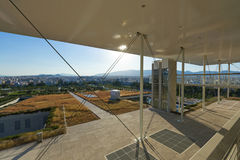 Stavros Niarchos Foundation Cultural Center SNFCC in Athens. View of the Stavros Niarchos Foundation Cultural Center SNFCC in Athens - Greece, designed by the royalty free stock image