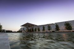 Stavros Niarchos Foundation Cultural Center SNFCC in Athens. View of the Stavros Niarchos Foundation Cultural Center SNFCC in Athens - Greece, designed by the royalty free stock photos