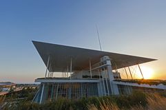 Stavros Niarchos Fundacyjny Kulturalny centrum SNFCC w Ateny Fotografia Royalty Free