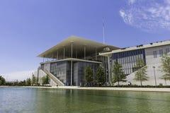 Stavros Niarchos-stichtings cultureel centrum, park en Griekse Nati stock afbeeldingen