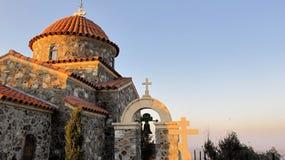 Stavrovouni kloster i bergen av Cypern Arkivfoto