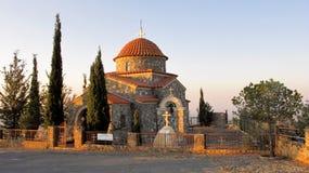 Stavrovouni klosterkapell i bergen av Cypern Royaltyfria Foton