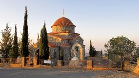 Stavrovouni monastery chapel in the mountains of Cyprus Royalty Free Stock Photos
