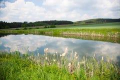 Staw dla łowić w Górnym Palatinate, łowi staw, Oberpfä Fotografia Stock