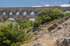 Staw Du Gard, Francja Zdjęcie Stock