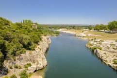 Staw Du Gard, Francja Fotografia Royalty Free