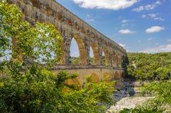 Staw Du Gard, Francja, pokazuje jeden łuk Zdjęcie Royalty Free