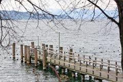 Staw na Starnberg jeziorze, Bayern Obrazy Royalty Free