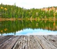Staw w Białym Halnym lesie państwowym, New Hampshire Fotografia Stock