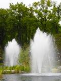 Staw z fontannami Zdjęcie Royalty Free