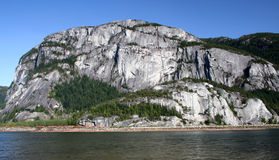 Stawamus Chief. A view of the sheer granite walls of the Chief Royalty Free Stock Photos