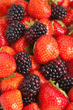 Stawberries & Blackberries Royalty Free Stock Photography