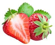 Stawberry et une moitié de baie Photo stock