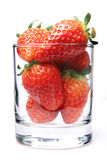 Stawberry in glass Royalty Free Stock Images