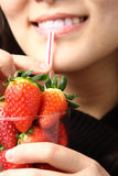 Stawberry juice Stock Images