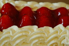 Stawberry Shortcake. Creamy and fresh strawberry shortcake Royalty Free Stock Photo
