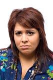 stawiająca czoło smutna kobieta Zdjęcia Stock