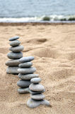 stawki zrównoważone trzy kamienie Obraz Stock