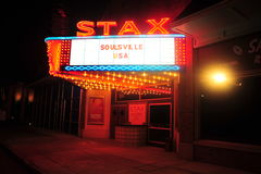 STAX rejestry, Memphis, TN Obraz Stock