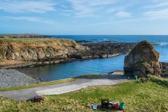 Staxigoe στη Σκωτία Στοκ φωτογραφία με δικαίωμα ελεύθερης χρήσης
