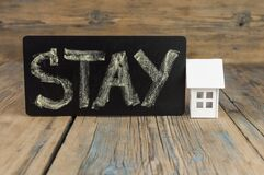 Free Stay At Home Text On The Chalkboard Royalty Free Stock Images - 178922099
