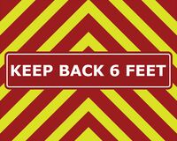 Free STAY BACK 6 FEET Design In Red And Yellow Inspired By The Back Of A Fire Truck Royalty Free Stock Photography - 175873517