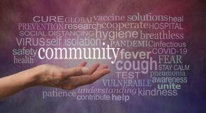 Stay Calm in the Community Covid-19 Pandemic Word Cloud