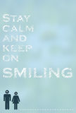 Stay calm and keep on smiling Stock Photography