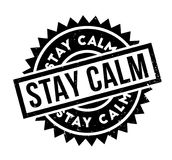 Stay Calm rubber stamp. Grunge design with dust scratches. Effects can be easily removed for a clean, crisp look. Color is easily changed royalty free illustration
