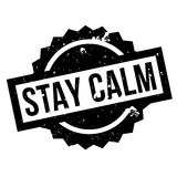 Stay Calm rubber stamp Royalty Free Stock Photography
