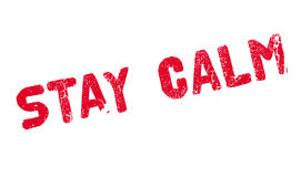 Stay Calm rubber stamp Stock Photo