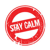 Stay Calm rubber stamp Stock Image