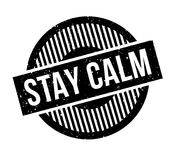 Stay Calm rubber stamp. Grunge design with dust scratches. Effects can be easily removed for a clean, crisp look. Color is easily changed stock illustration