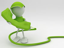 Stay connected. Telecom concept 3d render in green Stock Image