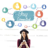 Stay Connected Communication Networking Internet Concept Royalty Free Stock Image