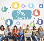 Stay Connected Communication Networking Internet Concept Stock Images
