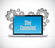 Stay connected computer sign Stock Image