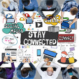 Stay Connected Freindship Relationship Social Concept Royalty Free Stock Images
