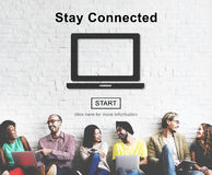 Stay Connected Interact Network Sharing Social Concept Royalty Free Stock Image