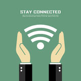 Stay connected poster Stock Images